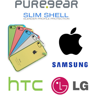 PureGear Slim Shell Polycarbonate Snap On Protective Cell Phone Cover Case