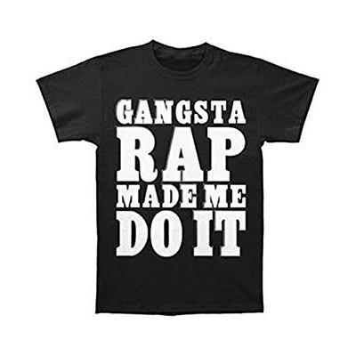 Ice Cube Raw Footage Men's Gangsta Rap Made Me Do It T-Shirt - Black