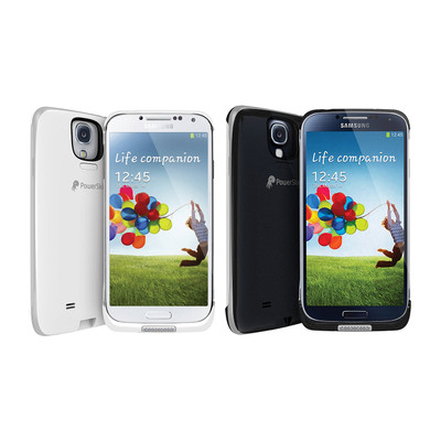 PowerSkin Spare 1600mAh Rechargeable Extended Battery Case for Samsung Galaxy S4