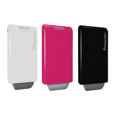 PowerSkin Hybrid Smartphones Battery Charger 2000mAh w/ Built-In Micro USB Cable
