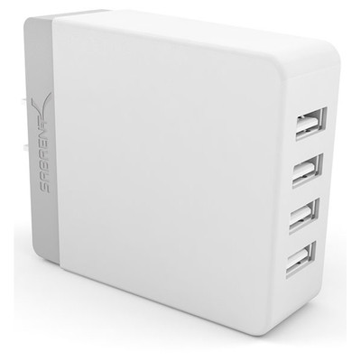 Sabrent 40 Watt/8 Amp 4-Port Rapid Smart USB Wall Charger AX-U4PW