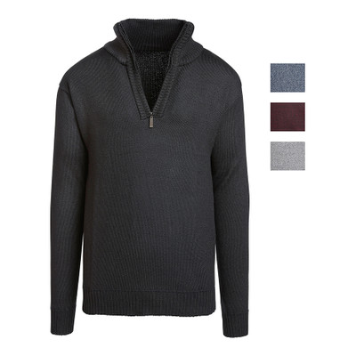Alta Men's Casual Long Sleeve (Half-Zip / Full-Zip) Mock Neck Sweater Jacket
