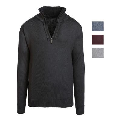 Alta Men's Casual Long Sleeve (Half-Zip / Full-Zip) Mock Neck Sweater Jacket