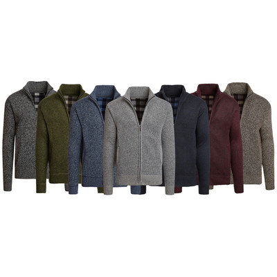 Alta Men's Casual Fleece Lined Full-Zip Sweater Jacket