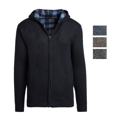 Alta Men's Casual Fleece Lined Hoodie Sweater Jacket