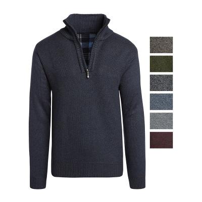 Alta Men's Casual Fleece Lined Half-Zip Sweater Jacket