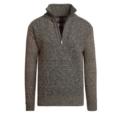 Alta Men's Casual Fleece Lined Half-Zip Sweater Jacket