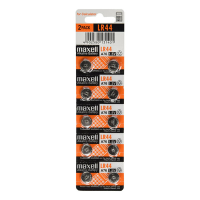 Maxell LR44 1.5V Calculator Watch Medical A76 Alkaline Batteries - 1 Count