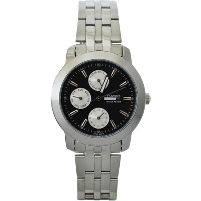 Casio Mens Stainless Steel w/ Black Display Analog Dress Watch - MTP-1192A-1A
