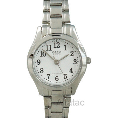 Casio LTP-1275D-7B Women's Silver Casual Analog Watch w/ White Numbered Dial