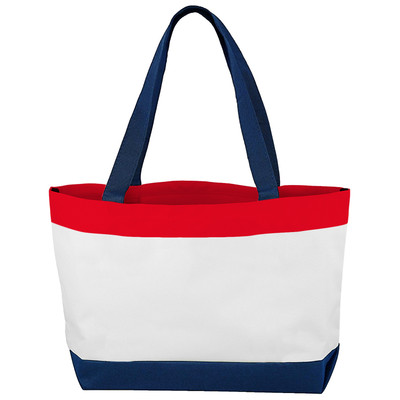 Alta Classic Genuine Over Shoulder Travel Tote Travel Bag - Red White and Blue