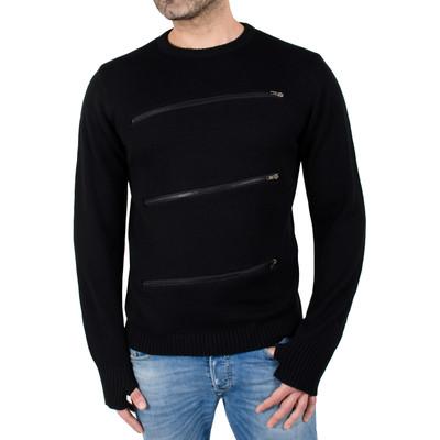 Indigo Star Men's Fashion Crewneck Sweater Pullover with Zipper Detail