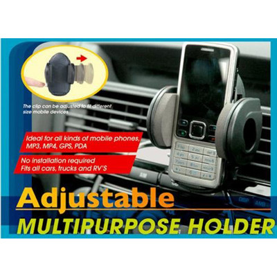 Regal, Multi-Purpose Phone, MP3 Tape On / Vent Clip, Vehicle Dash Mount, Black