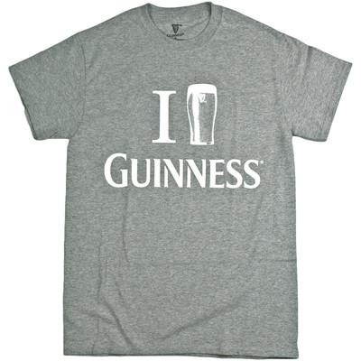 """Guinness Men's Official """"I Pint Guinness"""" Crew Neck Short Sleeve T-Shirt"""