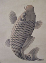antique Japanese scroll