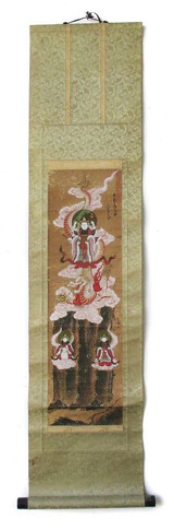 antique Japanese painting scroll
