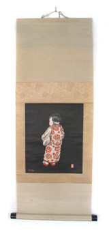 Scroll of Young Child in Kimono#858699