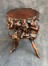 Chinese Antique Scholar's Stand Root Burl Wood #1447727