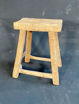Antique Chinese Elm Country Stool #1437760