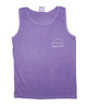 Violet Dolphin Hibiscus Flowers Tank Top
