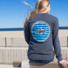 Pocketed Graphite Waves and Fins Long Sleeve