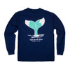 Pocketed Navy Whale Tail Long Sleeve