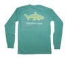 Pocketed Seafoam Shark Waves Long Sleeve