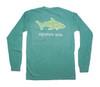 Pocketed Seafoam Shark Waves Long Sleeve