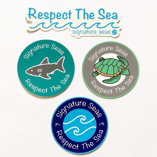 Respect The Sea Stickers (4 Pack)