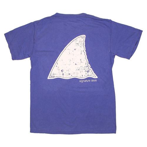 Pocketed Blue Shark Fin Short Sleeve