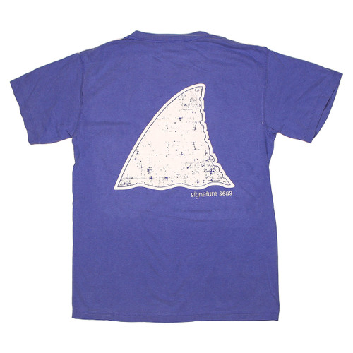 Pocketed Blue Shark Fin Short Sleeve