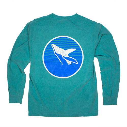 Pocketed Seafoam Whale Long Sleeve