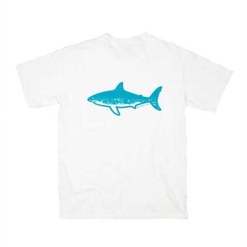 Pocketed Teal Shark Short Sleeve