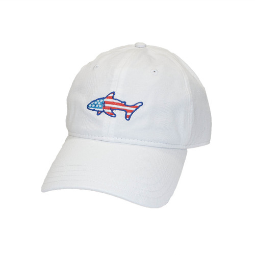 White Flag Shark Hat