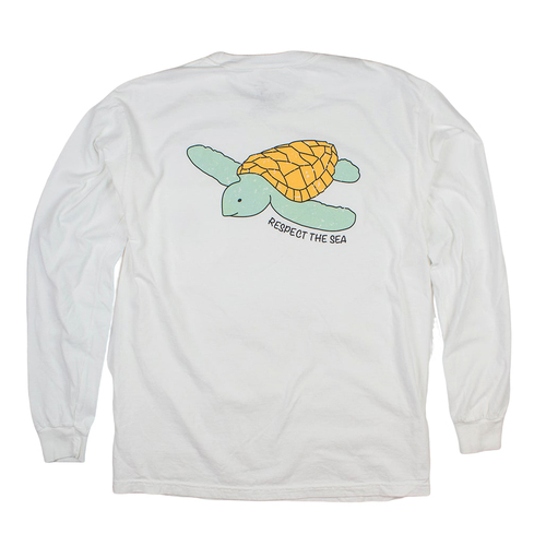 White Sea Turtle Long Sleeve