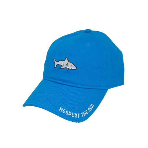 Coral Blue RTS Shark Hat