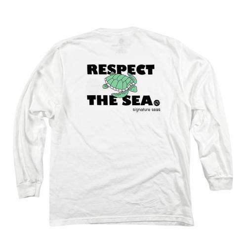 White RTS Sea Turtle Long Sleeve