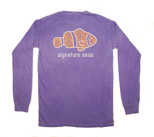 Pocketed Violet Clownfish Bubbles Long Sleeve