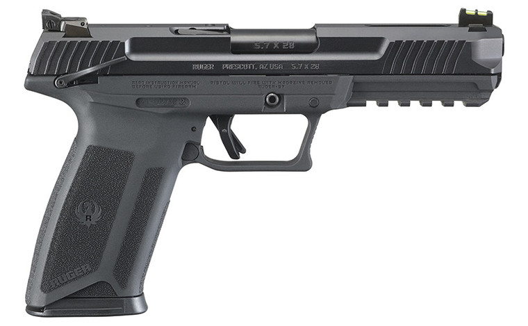 """Ruger 5.7 X 28 5"""" Adj Sights two 20 rd Mags Black"""