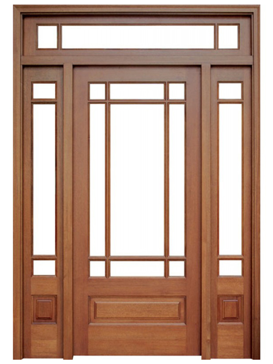 Mahogany Madison Single Wood Entry Door With 2 Sidelights And Transom By Door Stores Of America Shop Doors And Home Hardware