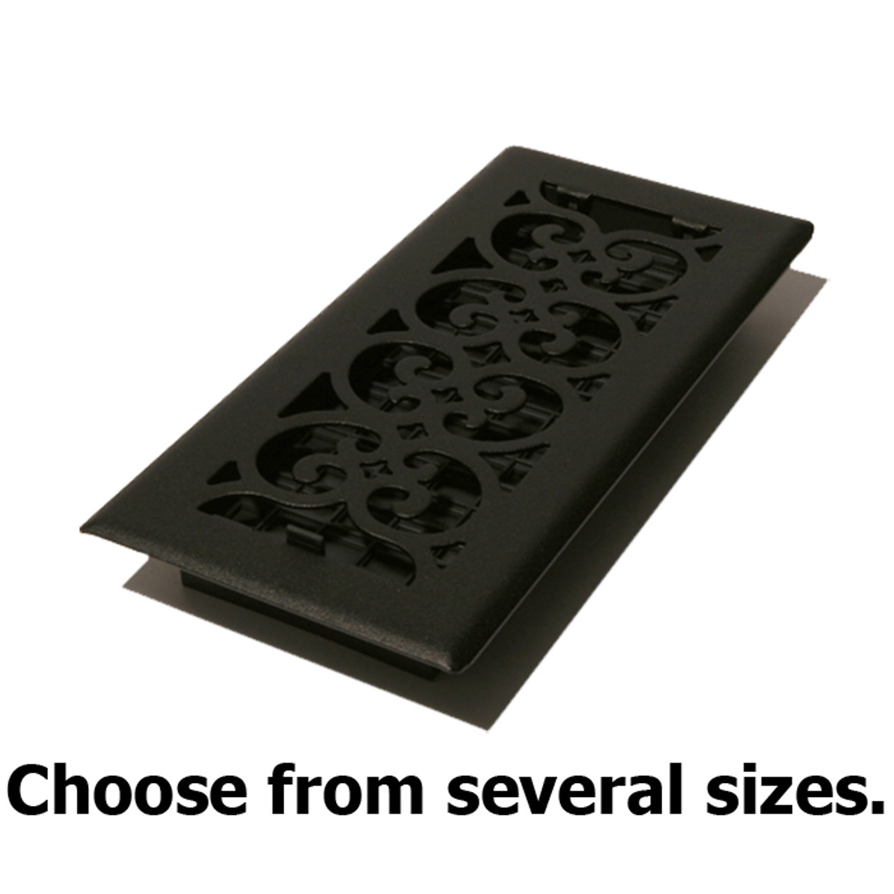Cast Iron Look Black Floor Register Vent Covers By Decor Grates By