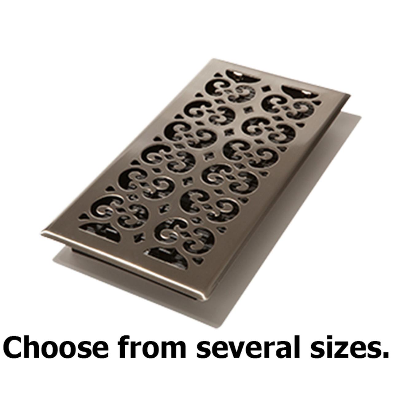 "Oil Rubbed Bronze Decor Grates 2 x 12/"" Oriental Design Steel Floor Register"