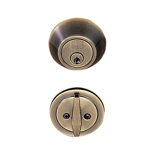Antique Brass Single Cylinder Standard Deadbolt