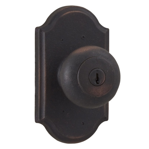Molten Bronze Wexford Reversible Keyed Entry Door Knob with Premiere Rosette - Oil Rubbed Bronze