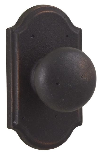Molten Bronze Wexford Dummy Door Knob with Premiere Rosette - Oil Rubbed Bronze