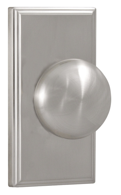 Weslock Satin Nickel Impresa Passage Knob With Woodward Rosette (3700ININSL20 Preferred Supplier- Complete Home Hardware Franklin, TN 615-794-3880