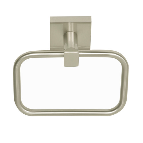 Satin Nickel Santa Cruz  Towel Ring 9104SN from Santa Cruz Bathroom accessories collection by Better Home Products