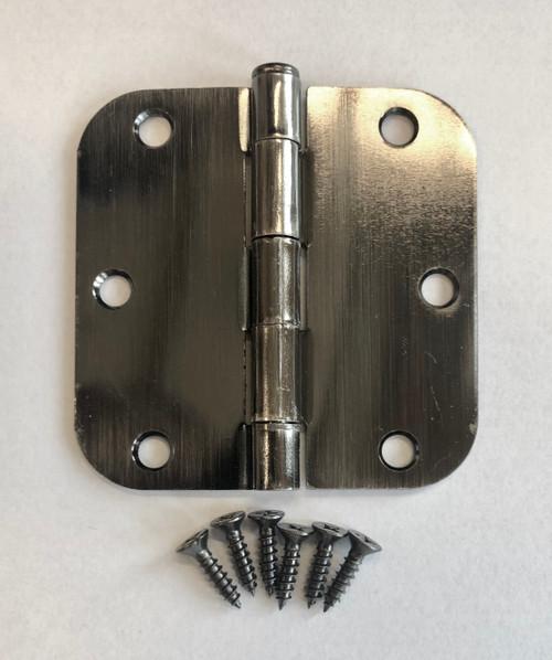 "Antique Nickel or Pewter 3.5"" X 3.5"" x 5/8"" Corner residential door hinge by Complete Home Hardware"
