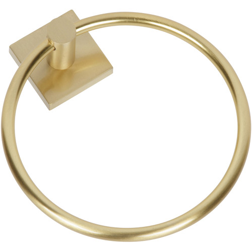 Satin Brass 1100 Series Towel Ring by Delaney and sold by Complete Home Hardware in Franklin, TN.
