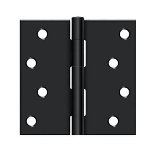 4 x 4 x sq exterior door hinge matte black